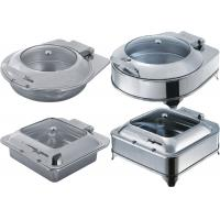 China Catering Buffet Equipment Drop - In Induction Chafing Dish With Glass Or Solid Lid wholesale