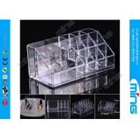 Cosmetic Clear Acrylic Display Stands Showcase For Lipstick / Eyebrow Pencil Manufactures