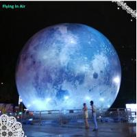 Outdoor Decorative Inflatable Moon with Light for Party and Concert Manufactures