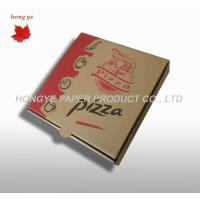 China Offset Printing Recycled Corrugated Cardboard Boxes For Pizza on sale