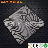 China Artistic decorative stainless steel sheet with NO.4/Satin and etching wholesale
