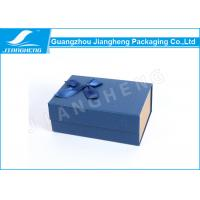 Magnetic Closure Bowknot Special Blue Paper Folding Packaging Boxes Customized Manufactures