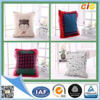 Polyester Fabric Washable Car / Sofa Seat Cushion Covers With Filling for Home Decor Manufactures