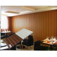 China Coffee Room Rotproof Wood Panel WPC Wall Cladding Soncap on sale