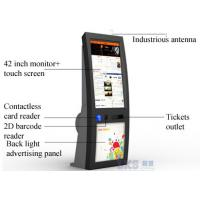 China IR Touch Screen self service Ticket Machine Back LED Light Advertising Panel on sale