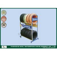 Heavy Duty metal storage racks for garage , auto tire rack display Manufactures