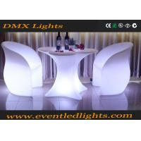 China Glowing LED Light Chair , Cordless Lounge Chair Set Rechargeable For Home / Garden Decoration on sale