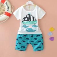 China 0-3 age baby clothes suit Boy's short sleeve baby wear suit on sale