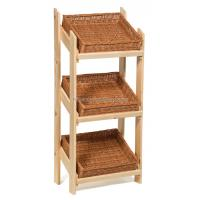 Retail Floor Standing Wooden Bread Display Stand For Bakery Store / Food Shops Manufactures