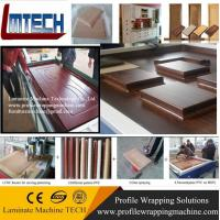 China carved wooden wall panels vacuum membrane press machine UK market on sale
