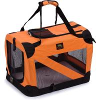 Soft Folding Travel Collapsible Pet Dog Crate Carrier Bag with leash holder Manufactures