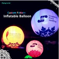 Customized Inflatable Light Printing Ball for Wedding and Events Decoration Manufactures