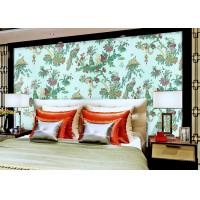 Chinese Style beautiful bedroom wallpaper , Floral Birds Custom Removable wallpaper roll Manufactures