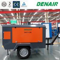 China Two Stage Diesel Portable Screw Air Compressor Machine with Cummins Engine wholesale
