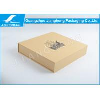 Brown Kraft Paper 3mm Thickness Cardboard Gift Packaging Boxes With Magnet Manufactures
