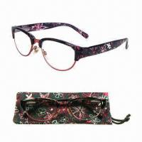 Colorful Reading Glasses with Spring Hinge and Matching Case Manufactures