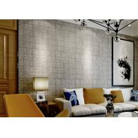 China Fireproof 3D Brick Effect Wallpaper / Textured Brick Wallpaper For Project , 0.7*10M on sale
