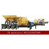 Mobile Portable Stone Crusher Machine Double Deck Feeder Convenient Operation