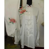 China traditional kungfu clothing with peony embroidery on sale