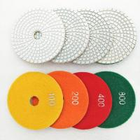 China 100mm Turbo Resin Bond Wet Polishing Pads For Various Stone Surface Polishing on sale
