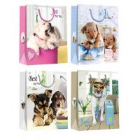 Christmas Paper Gift Bags with lovely dog pattern desgins Manufactures