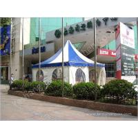 Color Stripe Top Cover Durable High Peak Pole Tent , High Peak Tent Rentals