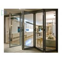 China Durable Double Glazed Glass Aluminium Folding Doors / Accordion Balcony Door wholesale