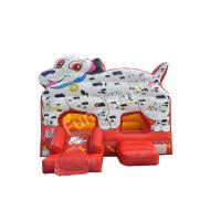 China White Large Dog Inflatable Bounce House With Side Slide For Children on sale