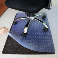 Recycled Studded Corner Desk Chair Mat Custom Protective Floor Mats For Carpet Manufactures