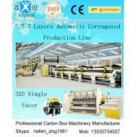 Computerized 3 / 5 / 7 Ply High Speed Corrugated Carton Making Machine ISO9001 Manufactures