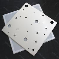 China CNC Perforated Lay In Ceiling Tiles 600x600mm False Ceiling Panel RAL9010 on sale