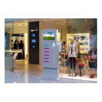 Video Advertising Automatical Smart Cell Phone Charging Kiosk Interactive Information Manufactures