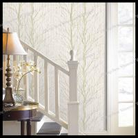 Quality non-woven house decoration wallpaper tree wall decal for living room bedroom for sale