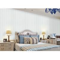 White And Blue Striped Wallpaper Interior Room Wallpaper Strippable for Living Room Manufactures