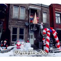 China Christmas Inflatable Penguin with Candy Cane for Outdoor Christmas Decoration wholesale