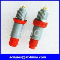 10 pin Lemo plastic push pull connector with red color Manufactures