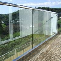 Buy cheap Modern Design Balcony aluminium u channel for glass with ss top rail from wholesalers