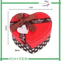 China Heart Shape Chocolate Gift Boxes , unique wedding gift box packaging on sale