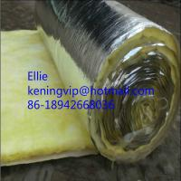 China 12kg/m3 glass wool with Aluminium foil for steel structure building roofing insulation on sale