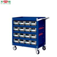 China TJG metal tool storage cabinet car repair tool trolley with tools on sale