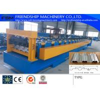 1.0-2.0MM Thickness Galvanized Steel Metal  Floor Deck Panel  Roll Forming Machine With 19 Forming Stations Manufactures