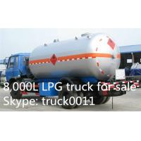 China 5000L -5500L DFAC LPG Bobtail Tanker Truck With Dispenser Filling Gas Machine, hot sale propane gas dispensing truck on sale