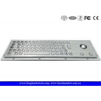 Buy cheap Kiosk Keyboard with Pointing Devise Trackball made in Metal Stainless Steel from wholesalers