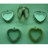 China Brand OEM Top Quality Glass Heart Shape Floating Charm Glass Living Memory Lockets TGLP002 on sale