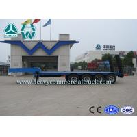 4 Axles Low Bed Vehicle Low Flatbed Trailer For Special / Heavy Duty Transports Manufactures