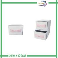 Custom Logo Pink Cardboard Drawer Slide Packaging Boxes Clothes Gift Boxes With Bow Manufactures