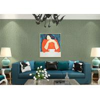 Lounge room Contemporary Wall Coverings , Crack Foaming Silk Solid Color Removable Wallpaper Manufactures