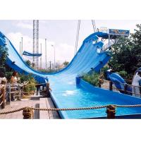 Huge Water Park Equipment Fiberglass Water Slides Super Waving Slide Custom Made Manufactures