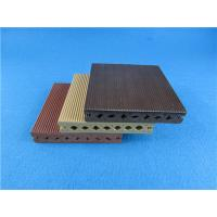 China Round Hollow WPC Composite Decking Strong WPC Flooring for Exterior wholesale