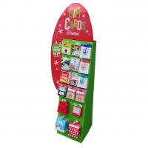 Creative design cardboard display shelf for gift cards Manufactures